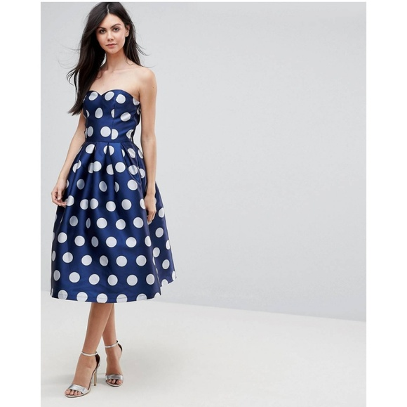 687883761ad Chi chi london tall structured bandeau dress